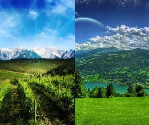 Как склеить два изображения