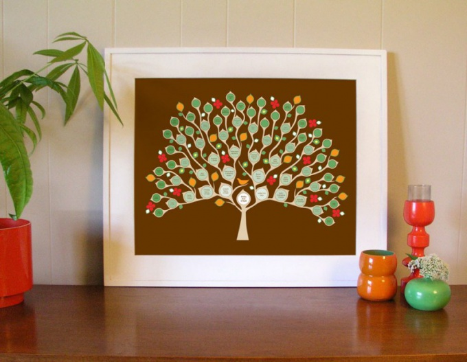 Семейное дерево на бумаге