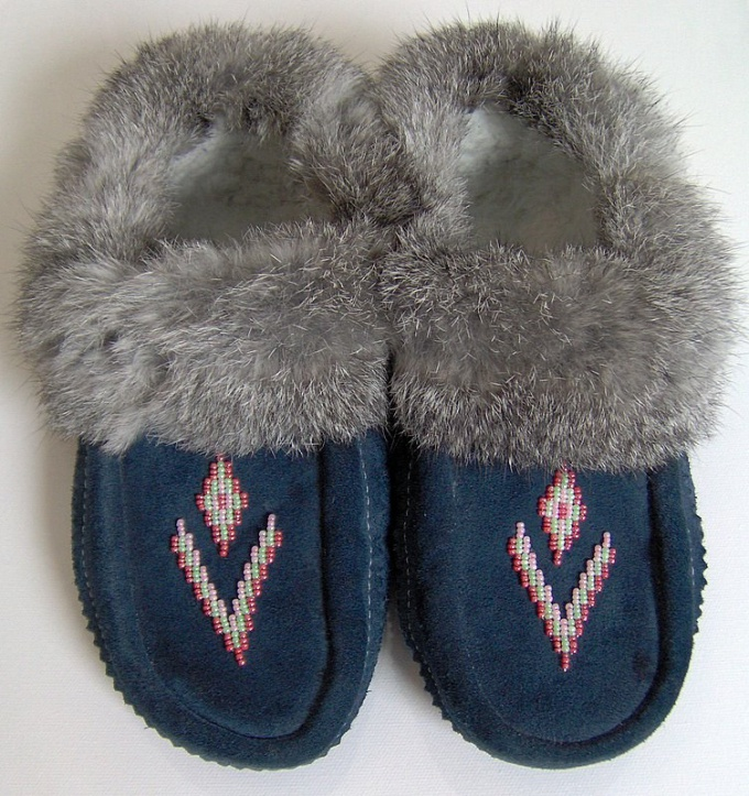 How to sew moccasins