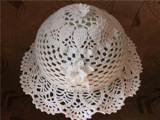 Как связать ажурную шапочку
