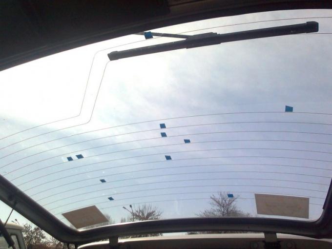 Как восстановить нити обогрева стекла