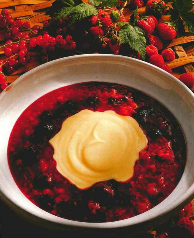 Как сварить молочный суп с вишней