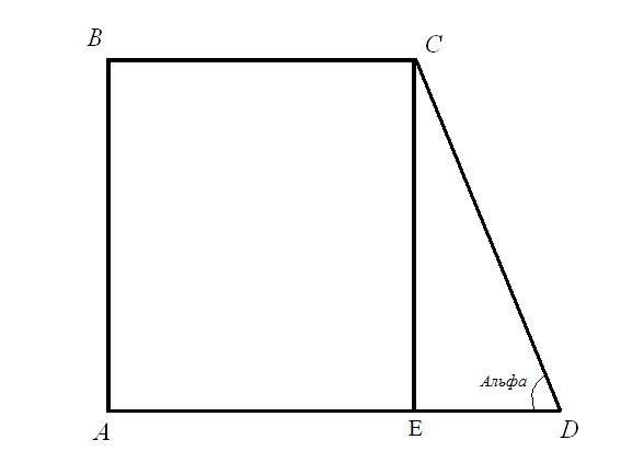 Как найти периметр прямоугольной трапеции
