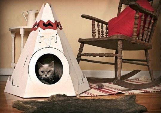 Как сделать дом для кошки