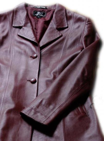 Как погладить куртку из кожи