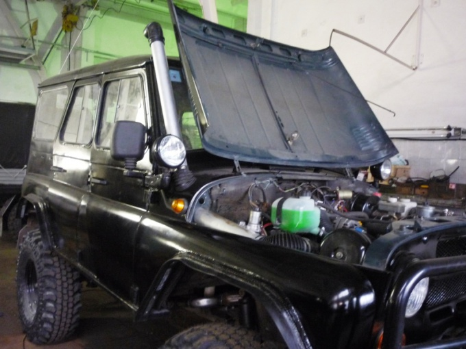 How to make a snorkel on the UAZ