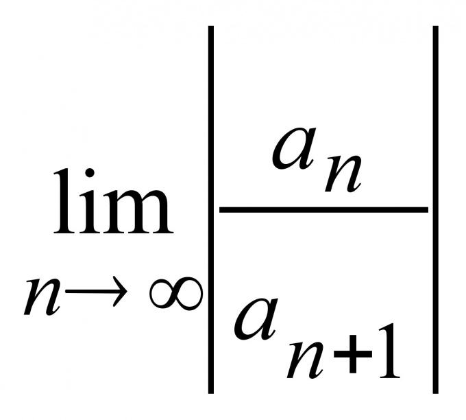 Как найти область сходимости ряда