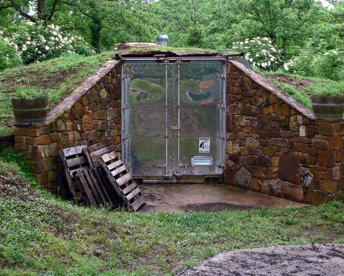 Наземное овощехранилище своими руками строительство фото