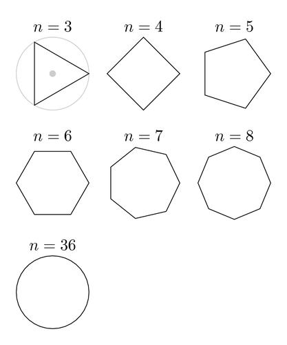 Как найти сторону правильного многоугольника