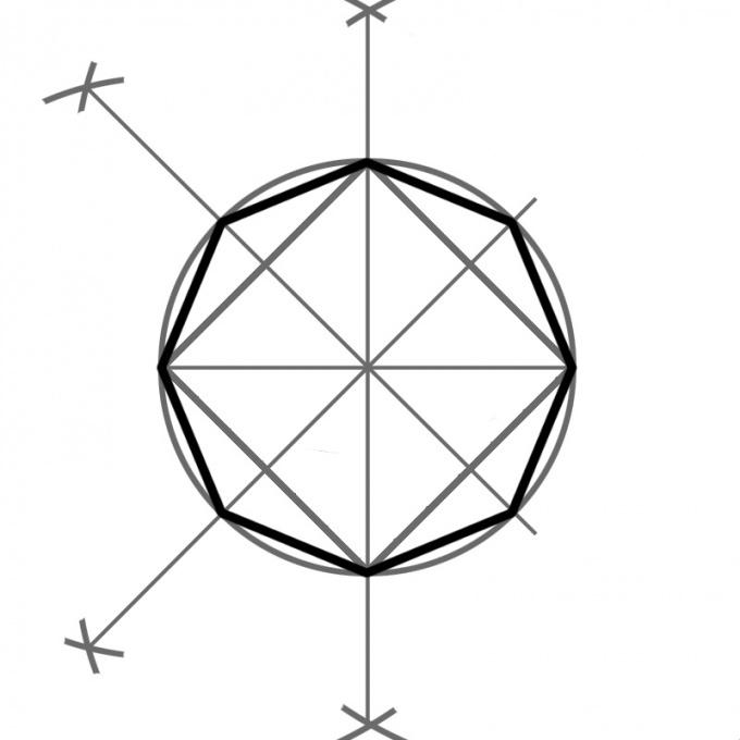 Как построить восьмиугольник