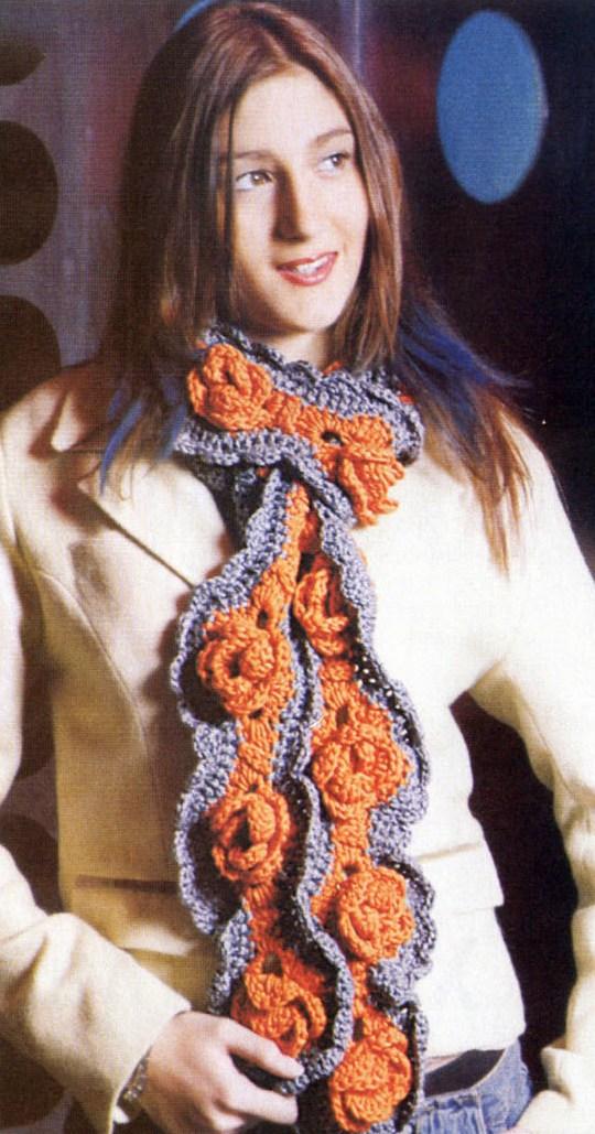 Как связать шарф узорами