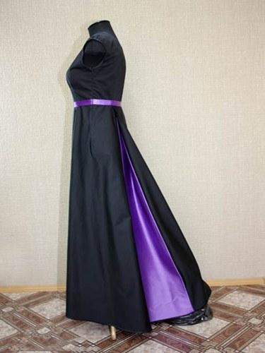 Как сшить юбку с шлейфом