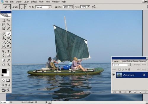Как сделать фото полупрозрачным