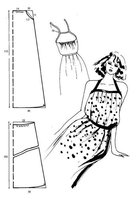 Как возвести выкройку сарафана