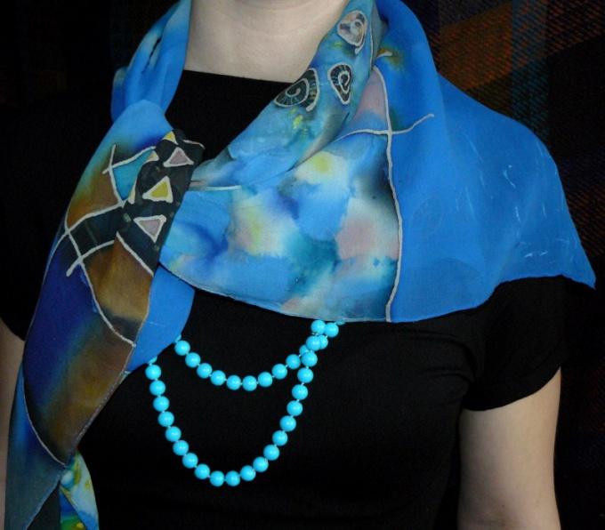 Как завязывать шелковый шарф