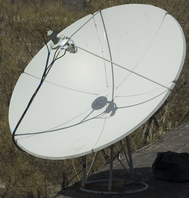 How to set a satellite dish a satellite Yamal