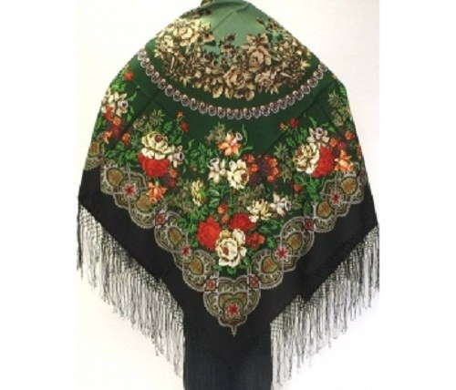 How to wear Pavlovo Posad shawls