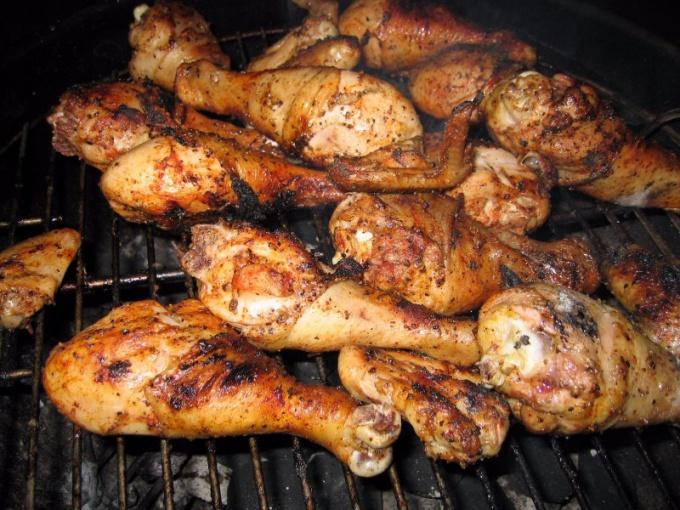 рецепт приготовления курицы гриль в духовке с грилем на вертеле