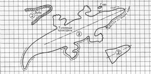 Как сшить крокодила