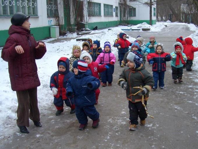 Как провести прогулку в детском саду