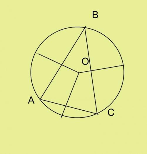 Определите центр окружности