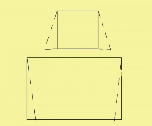 Нижнюю часть фартука можно сделать в виде прямоугольника или трапеции