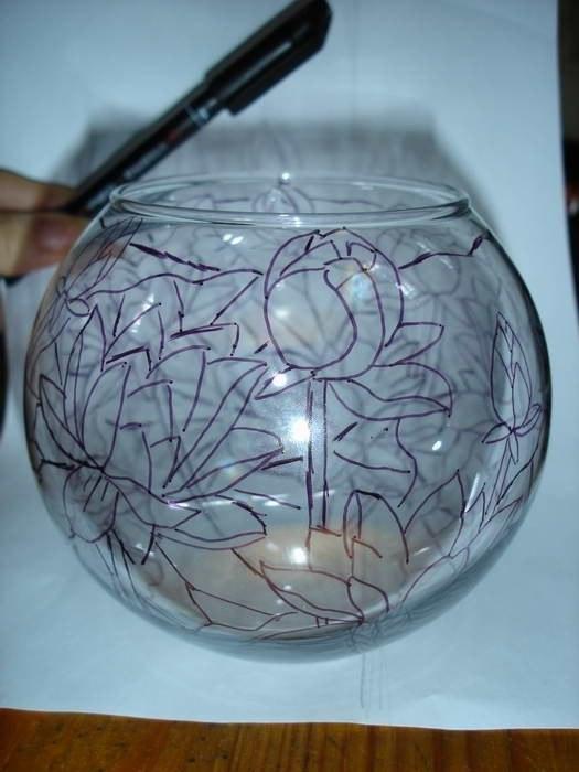 Как перевести на стекло рисунок
