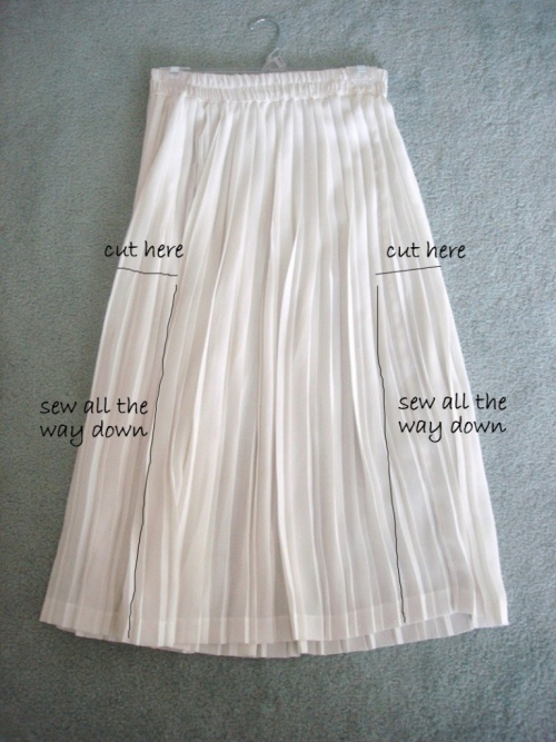 How to alter a skirt to a dress