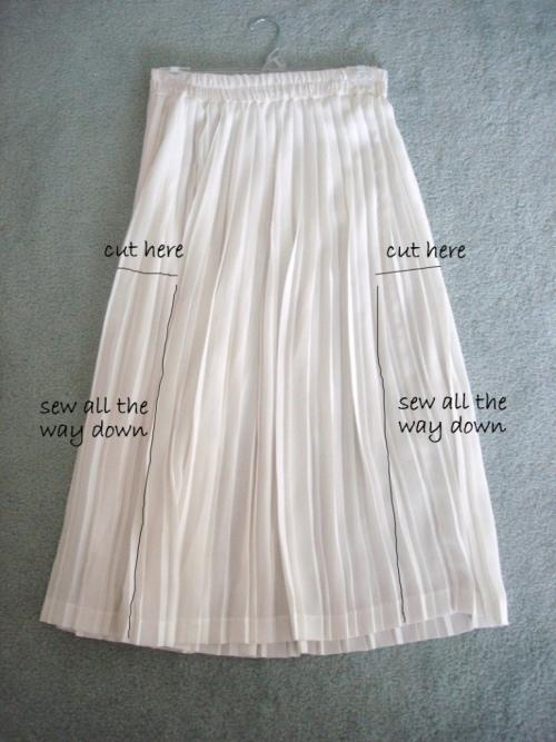 Как перешить юбку в платье