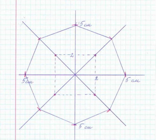 Восьмиугольник как сделать
