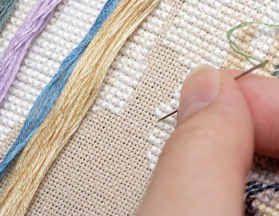 Как делать крест в вышивке