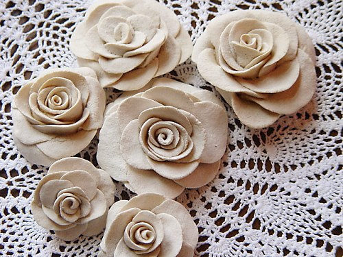 How to make flowers out of salt dough