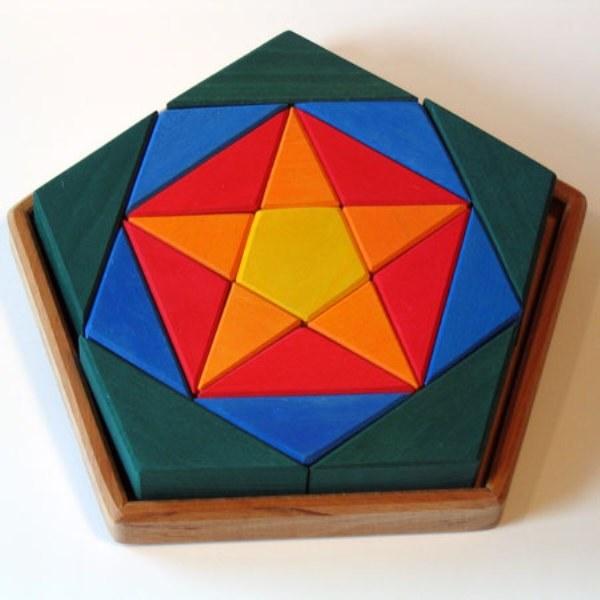 Как начертить пятигранник