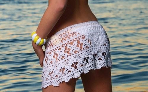 Как связать мини-юбку