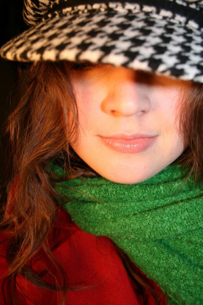 Как носить зимний шарф