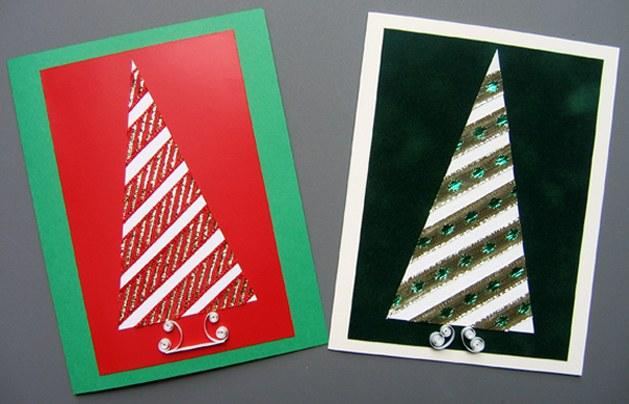 Как сделать самому новогоднюю открытку