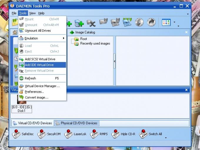 Как создать образ диска из файла iso