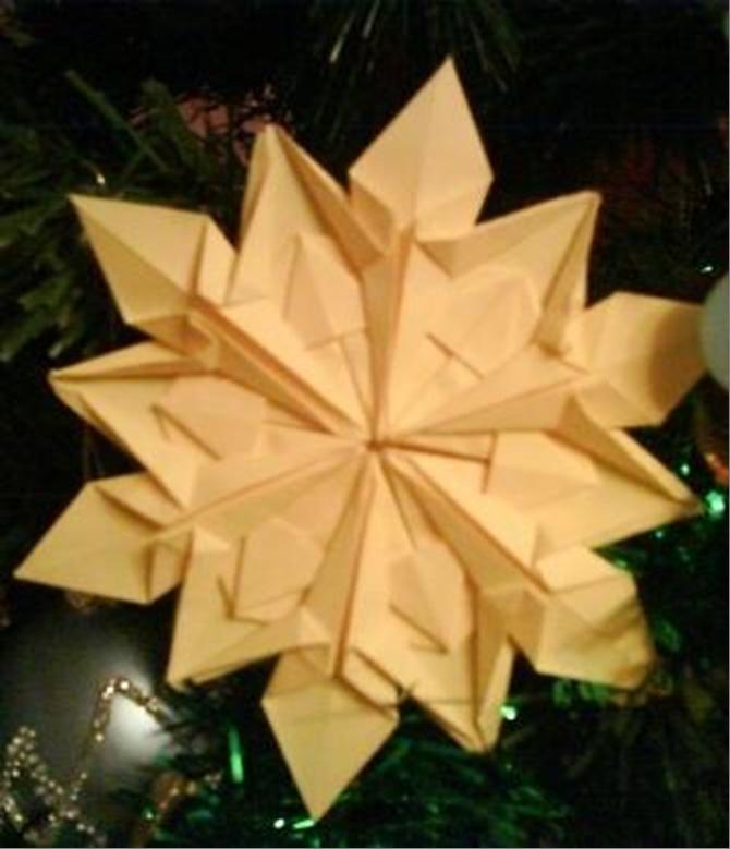 Как делать снежинки оригами