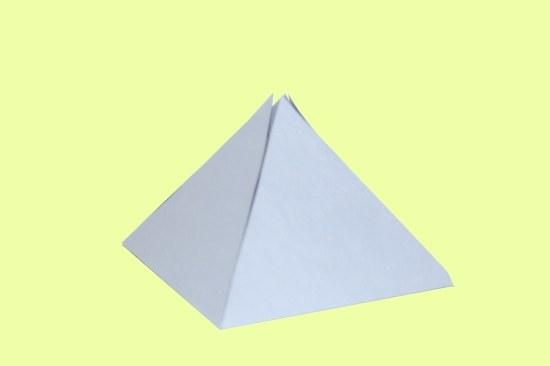 Как построить развертку пирамиды