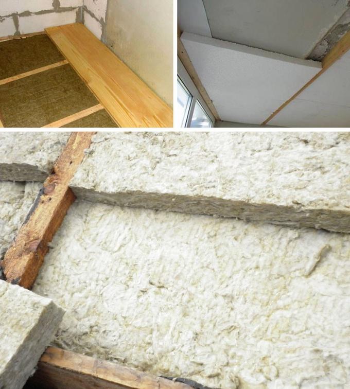 Как утеплить бетонный потолок