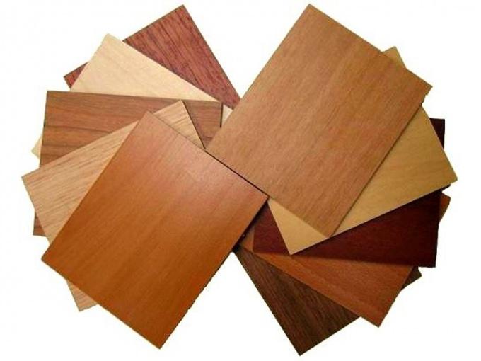 What is the wood veneer