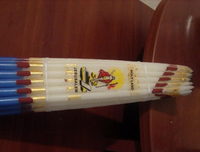 Как использовать иерусалимские свечи