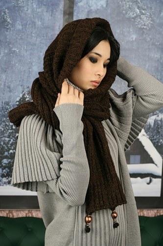 Как связать шарф-капюшон