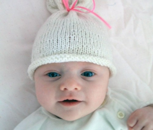 How to knit a hat for newborn knitting