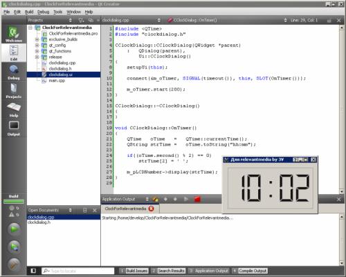 Как написать программу часы