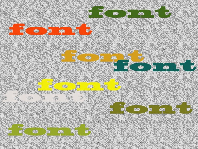 How to change the font color in Photoshop