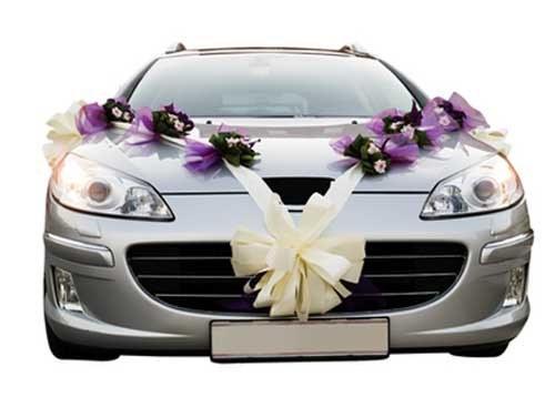 Как закрепить украшения на автомобиль для свадьбы