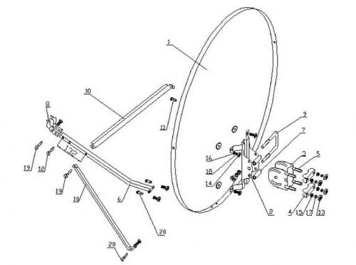 Как собрать спутниковую тарелку