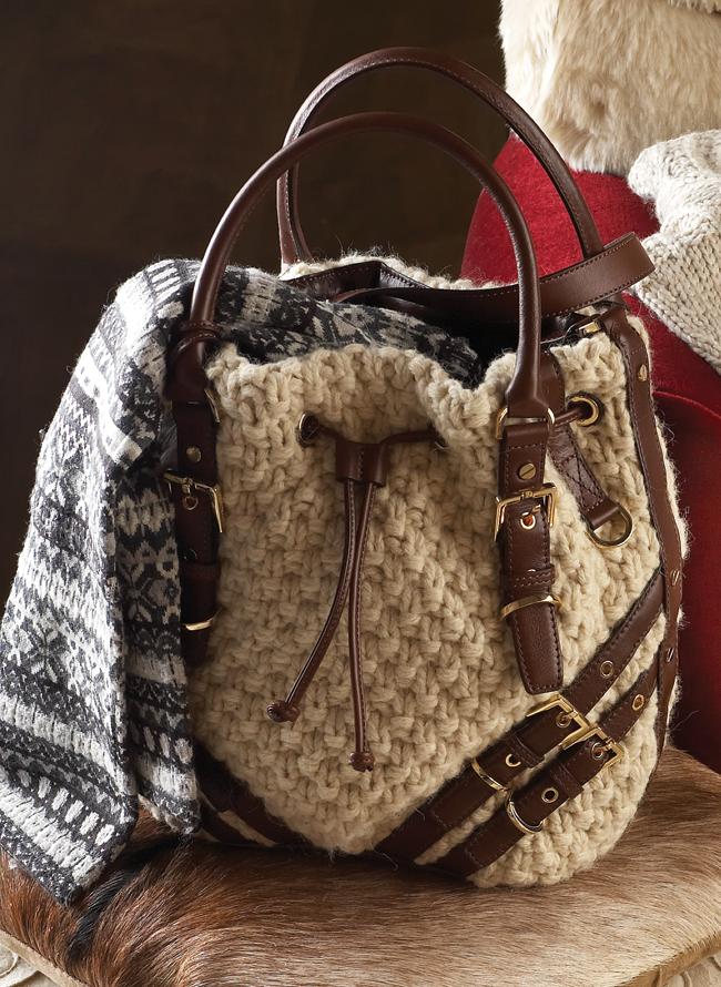 Как связать сумочку спицами