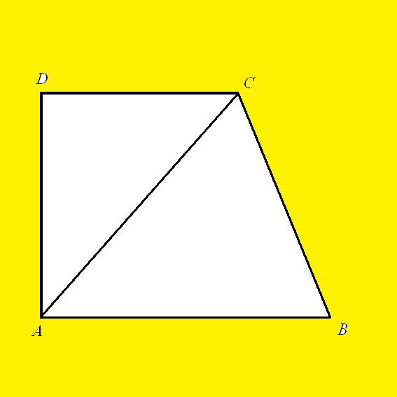 Как найти высоту трапеции, если известны диагонали